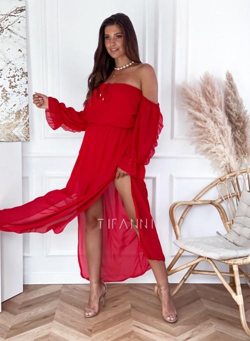 Sukienka hiszpanka Real czerwona