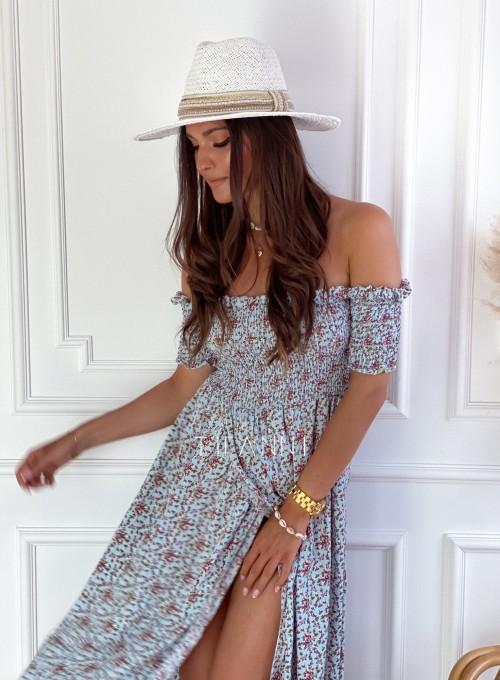 Sukienka hiszpanka Flora łączka miętowa 2