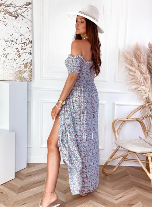 Sukienka hiszpanka Flora łączka miętowa 3