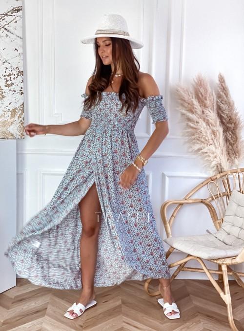 Sukienka hiszpanka Flora łączka miętowa 4