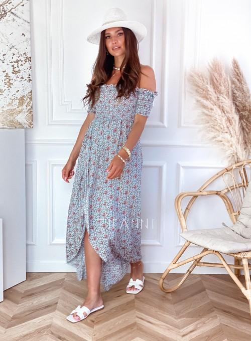 Sukienka hiszpanka Flora łączka miętowa 5