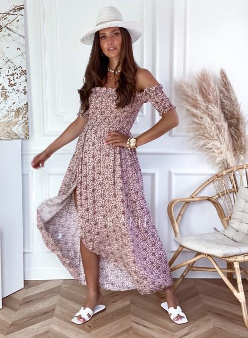 Sukienka hiszpanka Flora łączka pudrowa