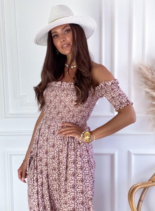 Sukienka hiszpanka Flora łączka pudrowa 3