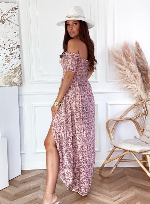 Sukienka hiszpanka Flora łączka pudrowa 4