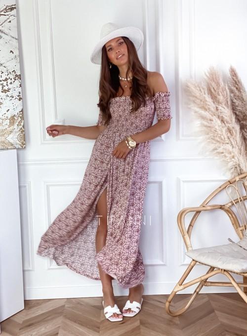 Sukienka hiszpanka Flora łączka pudrowa 1