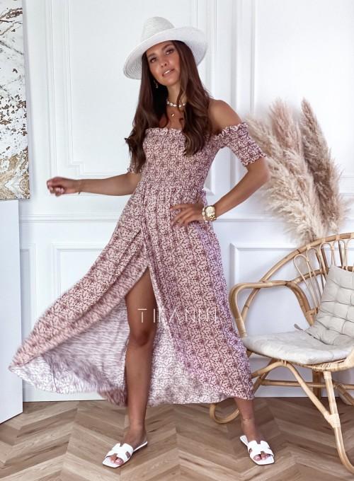 Sukienka hiszpanka Flora łączka pudrowa 2