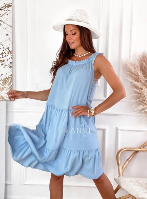 Sukienka Lupin błękitna 1