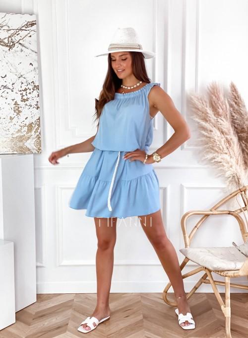 Sukienka Lupin błękitna 5