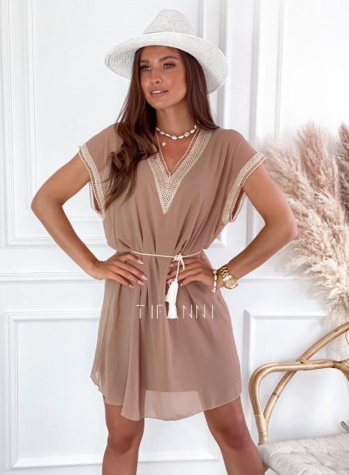 Sukienka Delta nude