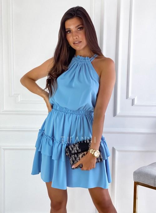 Sukienka Paoli błękitna