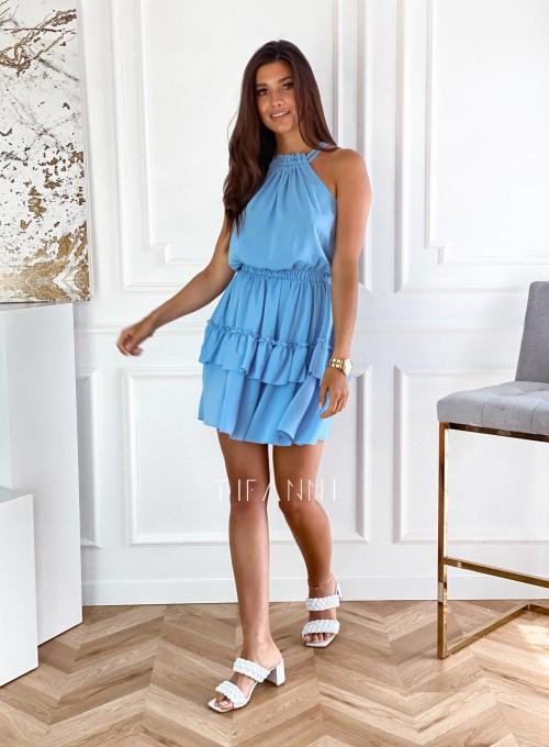 Sukienka Paoli błękitna 5