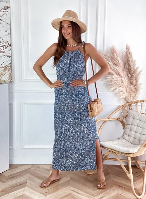 Sukienka Natali maxi kwiatki