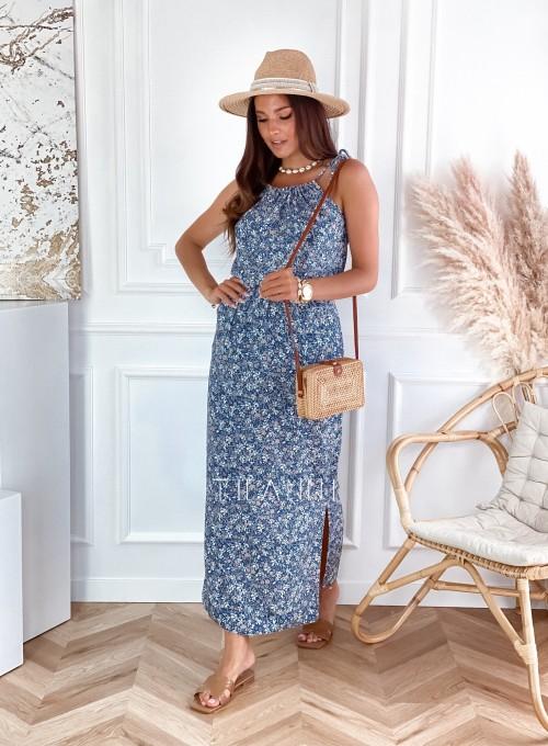 Sukienka Natali maxi kwiatki 4