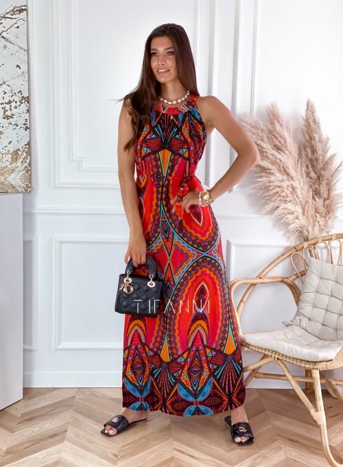 Sukienka maxi Carlo azteck