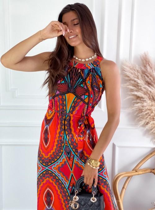 Sukienka maxi Carlo azteck 1