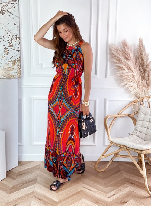 Sukienka maxi Carlo azteck 2