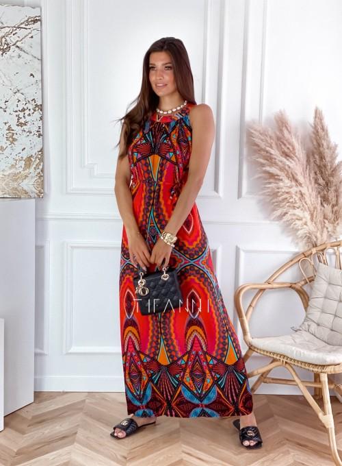 Sukienka maxi Carlo azteck 3