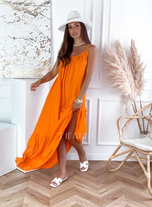 Zwiewna sukienka Julia maxi orange