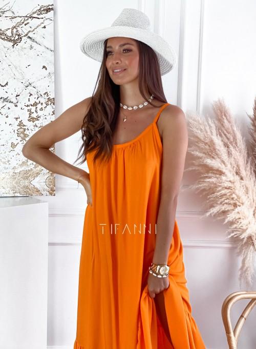 Zwiewna sukienka Julia maxi orange 1