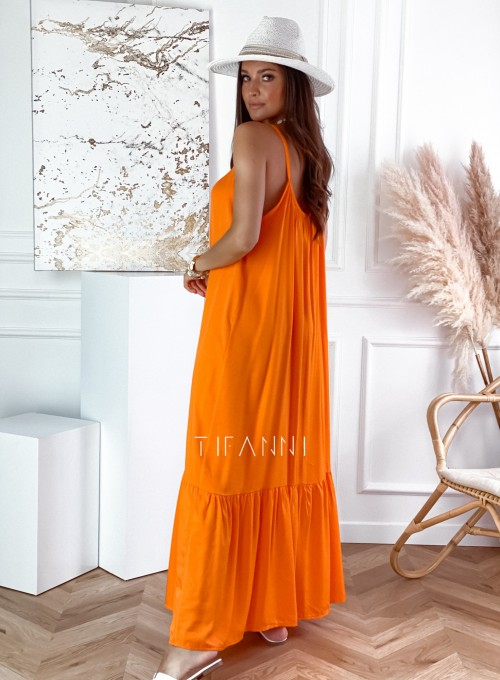 Zwiewna sukienka Julia maxi orange 2