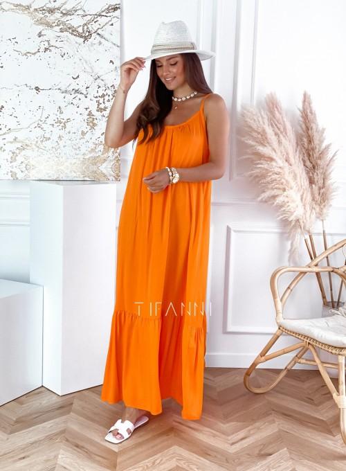 Zwiewna sukienka Julia maxi orange 3