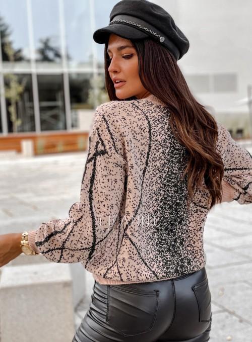 Sweter Dodi pudrowo - czarny 3