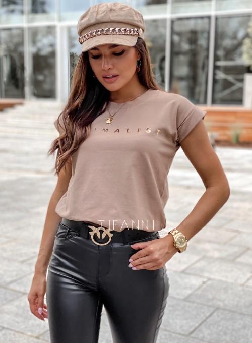 T-shirt minimalist mocca 2