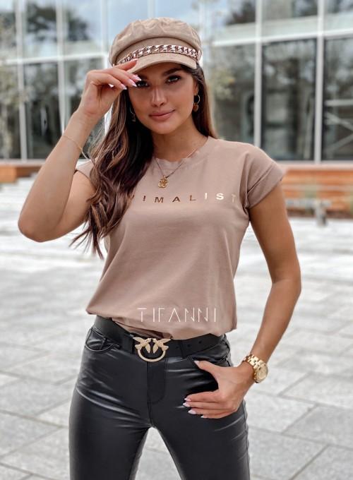 T-shirt minimalist mocca 4