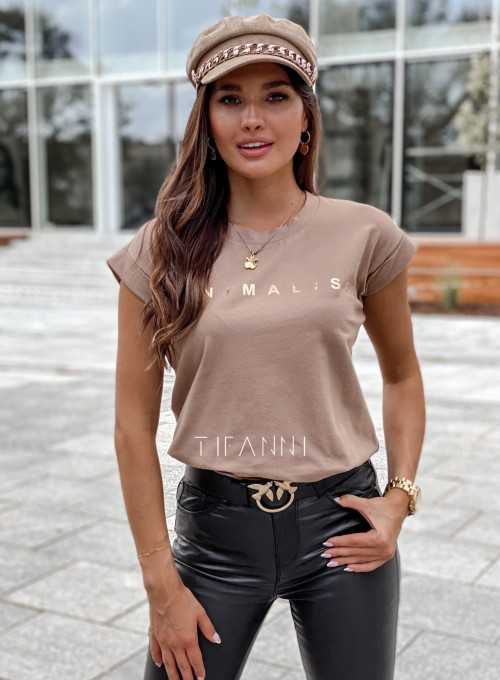 T-shirt minimalist mocca 5