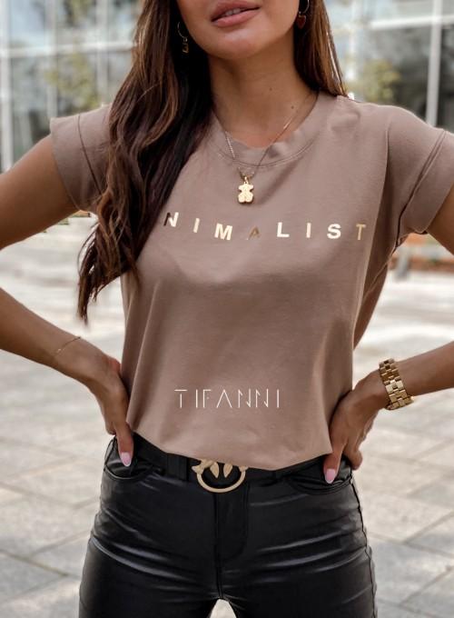 T-shirt minimalist mocca 1