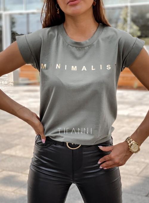 T-shirt minimalist khaki 1