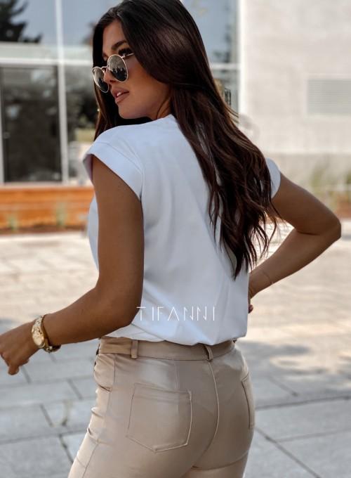 T-shirt minimalist biały 2