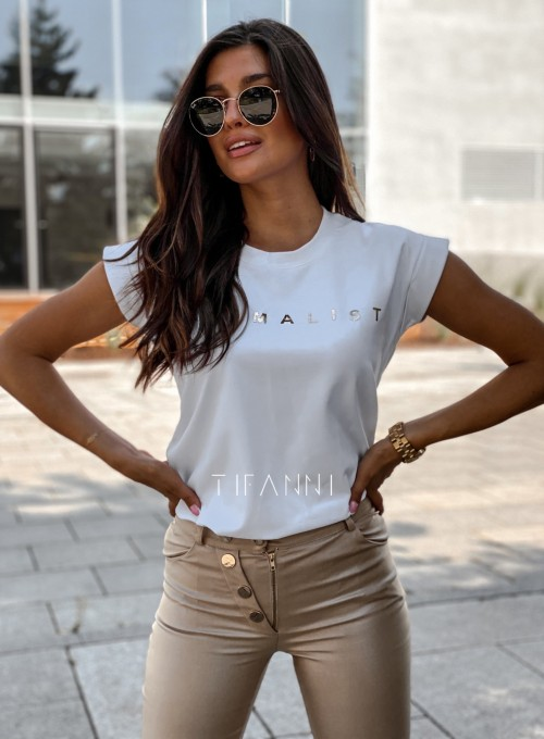 T-shirt minimalist biały 3