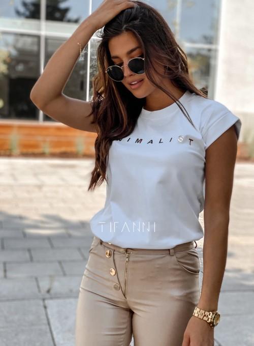 T-shirt minimalist biały 4