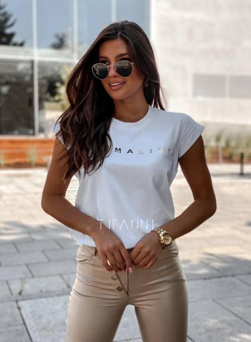 T-shirt minimalist biały 5