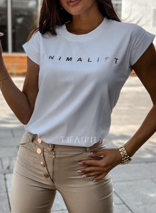 T-shirt minimalist biały 1