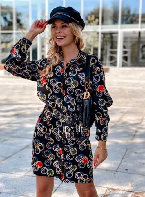 Sukienka koszulowa z kołnierzykiem Jeanet 2
