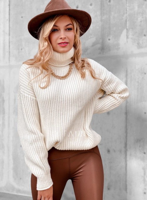 Sweter golf Blanco śmietankowy 2