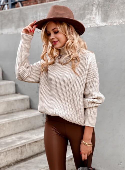 Sweter golf Blanco beżowy 1