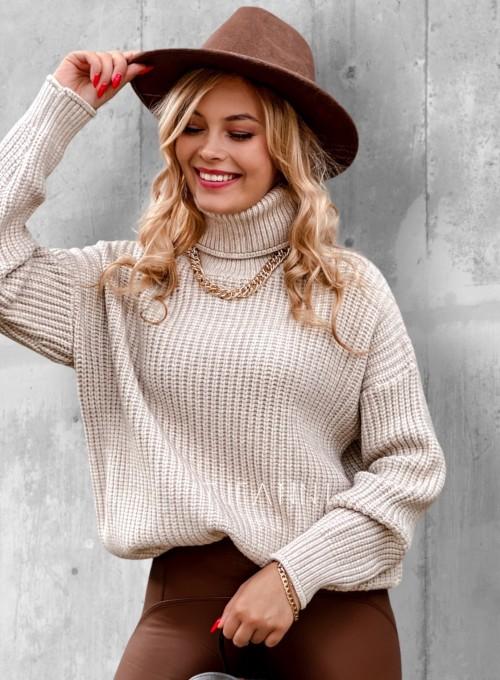 Sweter golf Blanco beżowy 2