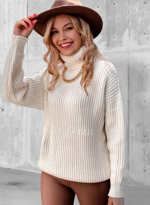 Sweter golf Blanco beżowy 4