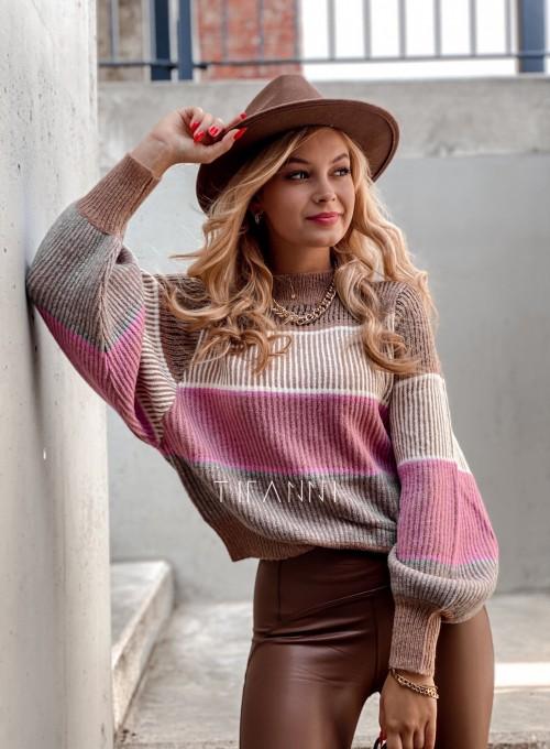 Sweter Malibu karmelowy 1