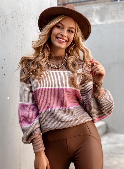 Sweter Malibu karmelowy 2