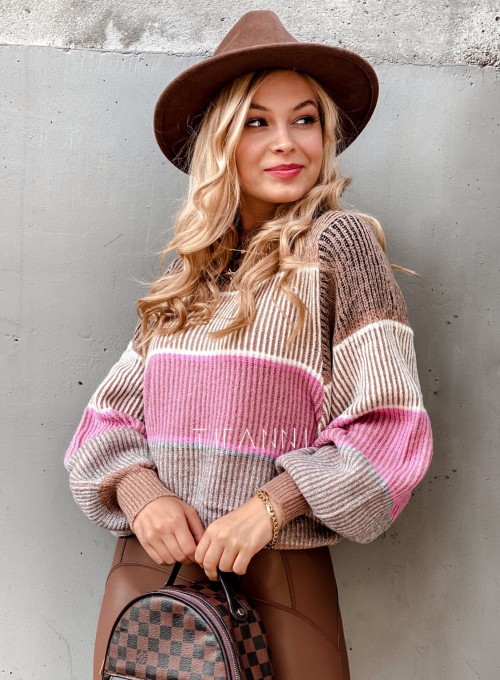 Sweter Malibu karmelowy 3