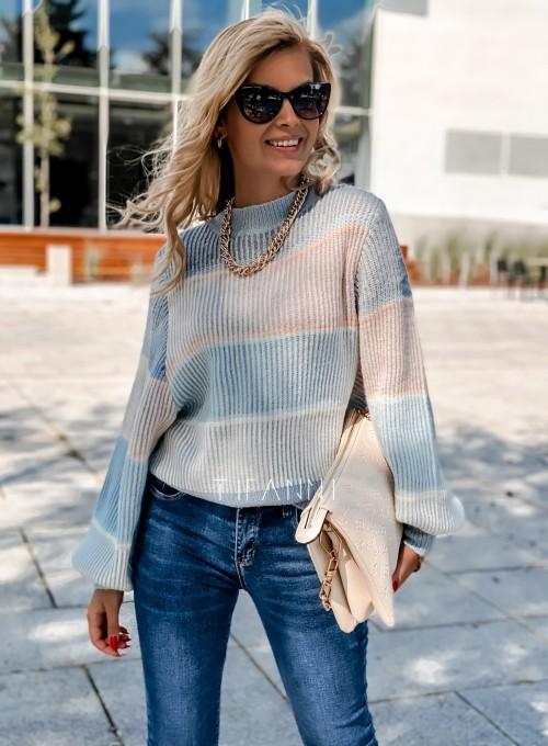 Sweter Malibu błękitny