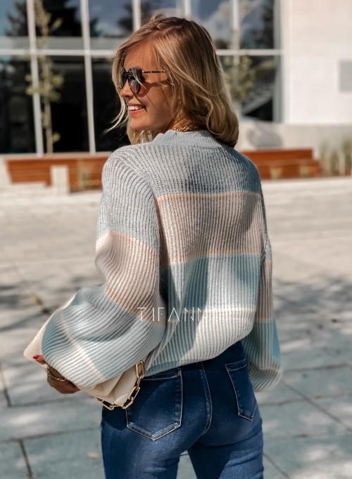 Sweter Malibu błękitny 3