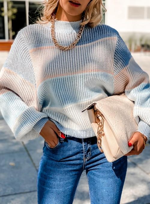 Sweter Malibu błękitny 1