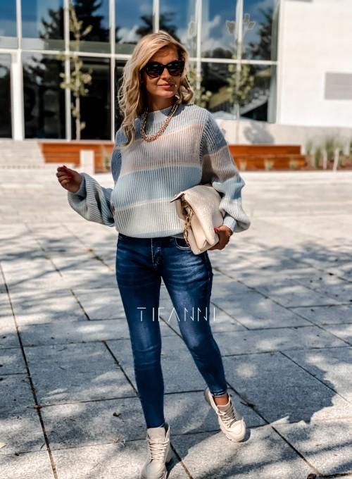 Sweter Malibu błękitny 2