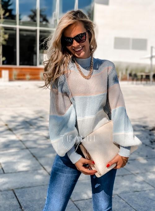 Sweter Malibu błękitny 4