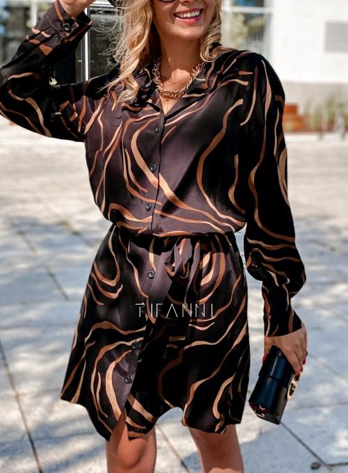 Sukienka koszulowa z kołnierzykiem Jeanet III 1